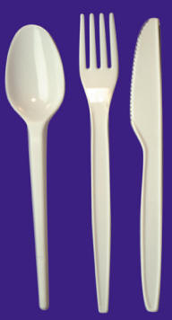 Hi-LiteTM Light-weight White Cutlery