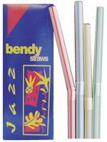 Striped Bendy Straw