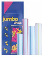 Striped Jumbo Straw