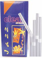 Clear Jumbo Bendy Straw